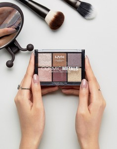 Палитра теней для век Cosmic Metals от NYX Professional Makeup - Мульти