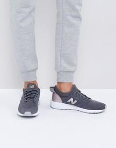 Серые кроссовки с отделкой цвета розового золота New Balance 420 - Розовый
