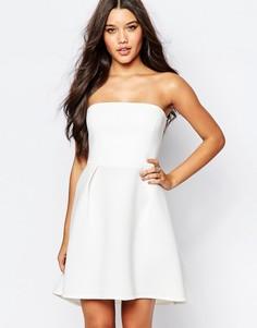 Платье бандо для выпускного Oh My Love - Кремовый