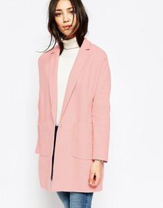 Oversize-пальто с карманами Yumi - Розовый