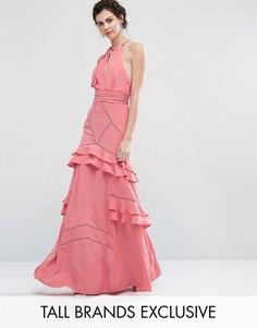 Платье макси с рюшами Jarlo Tall - Розовый