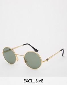 Круглые солнцезащитные очки Reclaimed Vintage - Золотой