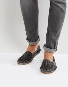 Черные плетеные туфли из нубука Dune Freedom - Черный