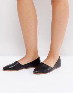 Черные кожаные туфли на плоской подошве ALDO Blanchette - Черный
