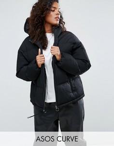 Короткая дутая куртка ASOS CURVE - Черный