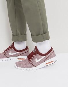 Бордовые кроссовки Nike SB Janoski Max 631303-618 - Красный