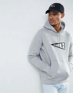 Худи серого цвета Nike SB Icon Banner 860116-063 - Серый