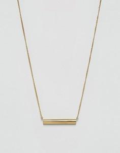 Золотистое ожерелье с планкой Made - Золотой