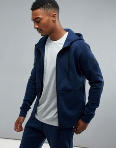 Худи темно-синего цвета на молнии adidas Athletics Stadium B45728 - Темно-синий