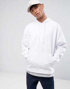 Белый свободный худи с эффектом футболки ASOS - Белый