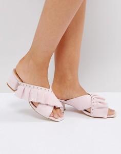Розовые босоножки на каблуке с заклепками и отделкой RAID Loren - Розовый