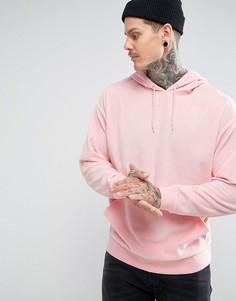 Велюровый худи оверсайз ASOS - Розовый