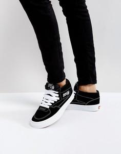Черно-белые кроссовки Vans Half Cab - Черный