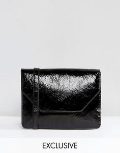 Лакированная сумка Monki - Черный