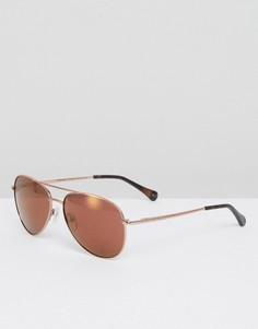 Солнцезащитные очки-авиаторы цвета розового золота Ted Baker Nova - Золотой