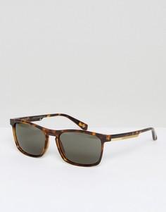 Квадратные черепаховые солнцезащитные очки Ted Baker Cole - Коричневый