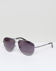 Темно-серые солнцезащитные очки-авиаторы Ted Baker Reese - Серебряный
