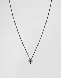 Черное ожерелье Mister Crucis - Черный