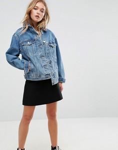 Выбеленная синяя джинсовая куртка ASOS - Синий