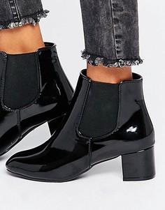 Черные лакированные ботинки челси Daisy Street - Черный