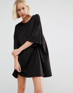 Платье-футболка Weekday Huge - Черный