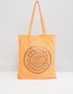 Оранжевая сумка-тоут с принтом ASOS - Оранжевый