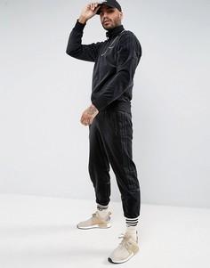 Черные велюровые джоггеры adidas Originals Challenger BR2167 - Черный
