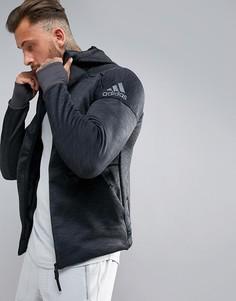 Черный худи adidas Training ZNE Climaheat S94831 - Черный