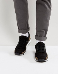 Черные кроссовки из искусственной замши с леопардовым принтом ASOS - Черный