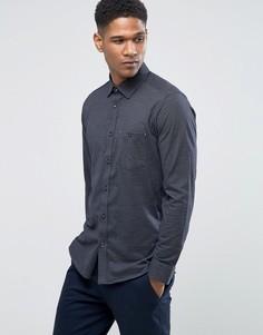 Узкая трикотажная рубашка Ted Baker - Темно-синий