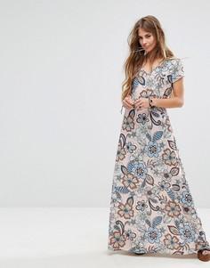 Платье макси с цветочным принтом Liquorish - Розовый