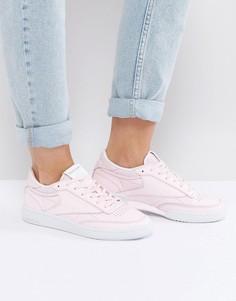 Пастельно-розовые классические кроссовки Reebok Club C - Розовый
