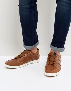 Cветло-коричневые кроссовки со шнуровкой New Look - Рыжий