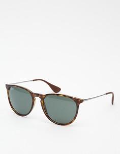 Круглые солнцезащитные очки Ray-Ban Erika 0RB4171 - Коричневый