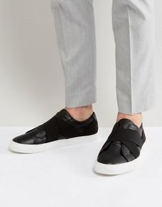 Черные кроссовки с эластичными вставками ASOS - Черный