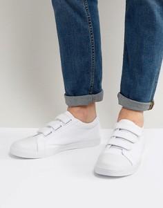 Белые кеды на липучке с отделкой на носке ASOS - Белый