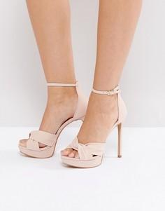 Розовые босоножки на каблуке с ремешками крест-накрест ALDO Ameline - Розовый