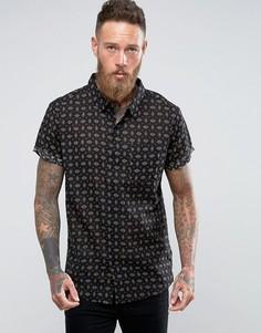 Черная рубашка Rollas - Черный