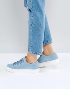 Замшевые кроссовки Selected - Синий