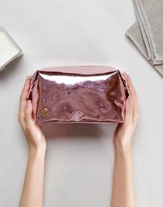 Розовая косметичка с зеркальной отделкой Mi-Pac - Розовый