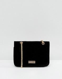 Черная маленькая бархатная сумка через плечо Faith - Черный