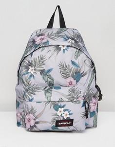 Серый рюкзак с гавайским цветочным принтом Eastpak Padded Pak R - Мульти