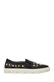Кожаные слипоны Cosmic Pearl Slip-on Aquazzura
