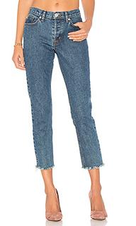 Укороченные джинсы с потрепанным низом riley - Hudson Jeans