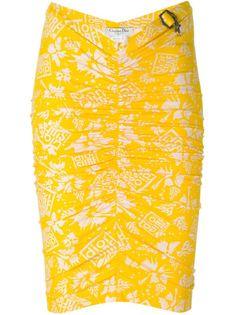 облегающая юбка с принтом  Christian Dior Vintage