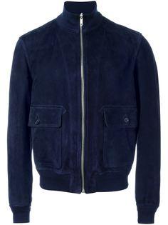 замшевая куртка-бомбер Alexander McQueen