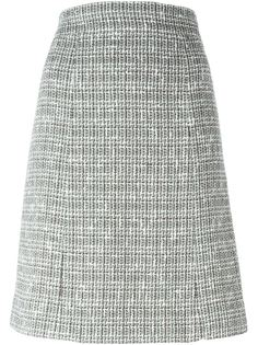 твидовая юбка А-силуэта Chanel Vintage