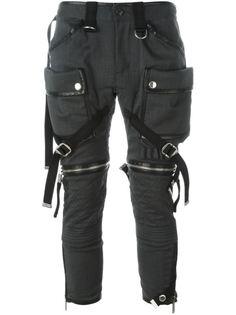 байкерские брюки с ремешками Dsquared2