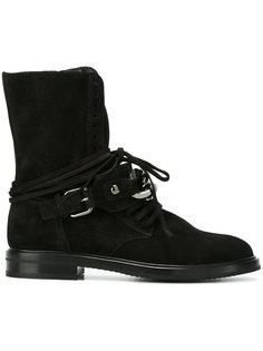 ботинки с ремешками на пряжке  Casadei