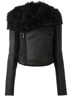 байкерская куртка из овчины Rick Owens